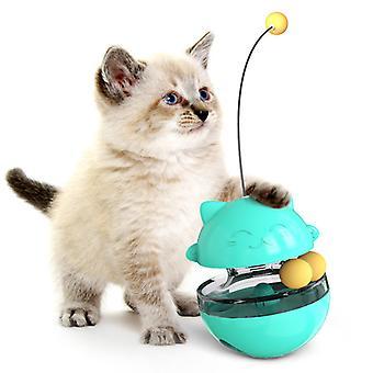 Hauska 3 In1 Peli Lemmikkikissa Mielenkiintoinen Lelu Tumbler Kissat Raidat Pyörivä Pallo Lelut Puzzle Play (vihreä, keltainen, sininen, punainen)