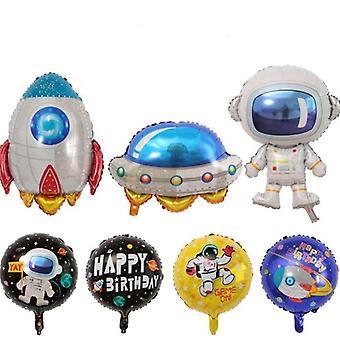 Astronautti Avaruusmies Ilmapallot Raketti Ilmalaiva Kuu Ilmapallot Helium Folio Ilmapallot