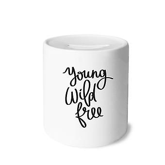 Junges kostenloses Zitat Drucken Keramik Sparschwein