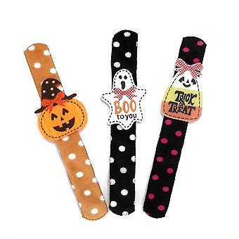 Caraele Halloween Slap Bracelets For Kids 3 Pack