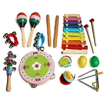 Kids Musical Instruments, 14 Pcs Wooden Percussion Music Instrument Toys For Kids