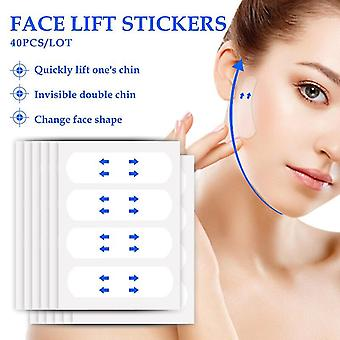 80 Pcs/set Invisible Thin Face Facial Stickers Facial Line Wrinkle Sagging Skin V-shape Face Lift Tape Scotch For Face