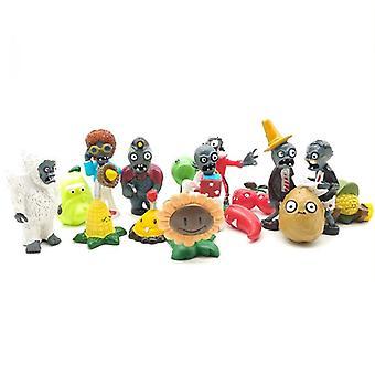 16pcs Plants Vs Zombies Figure Toy Doll Ornaments Car Decoration