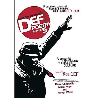 Russell Simmons Presents Def Poetry: Season 5 [DVD] USA import