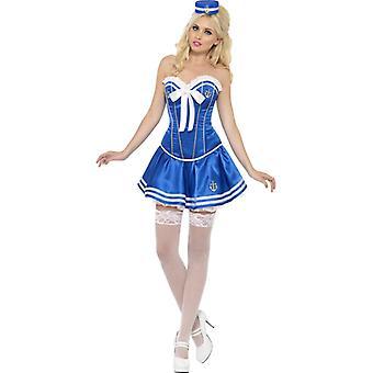 Costum de marinar cu corset armat si tutu gr. S
