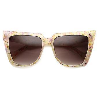 Womens Butterfly Sonnenbrille mit UV400 Schutz Gradient Lens