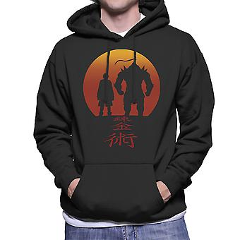 Full Metal Alchemist Red Background Men's Hooded Sweatshirt