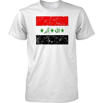 Irakin ahdistuneita Grunge Effect lippu Design - Miesten T-paita