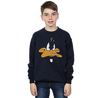 Looney Tunes jongens Daffy Duck grote gezicht Sweatshirt