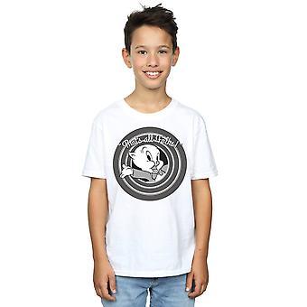 Looney Tunes Boys Porky Pig That's All Folks T-Shirt