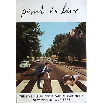 Paul McCartney Paul is Live Poster