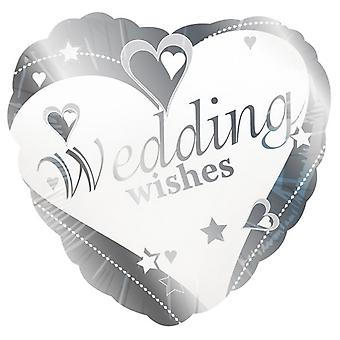 Creative Party 18 Inch Wedding Wishes Foil Balloon