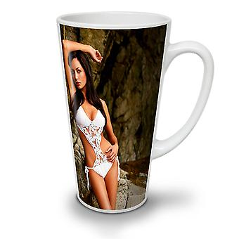 Model Erotic Bikini Sexy NEW White Tea Coffee Ceramic Latte Mug 12 oz | Wellcoda