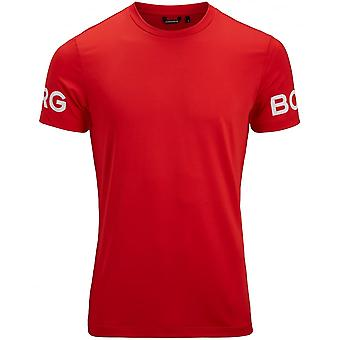Bjorn Borg Hydro Pro Active T-Shirt, Chinese Red