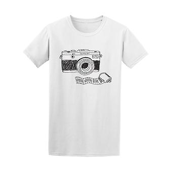 Appareil photo Doodle Graphic Tee - Image de Shutterstock