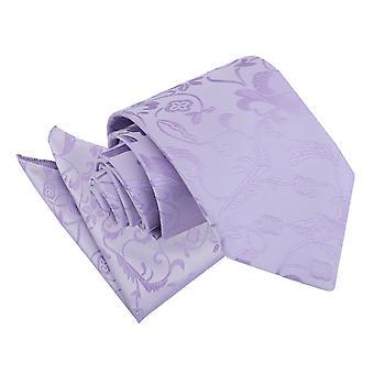 Lilac Floral Tie & Pocket Square Set