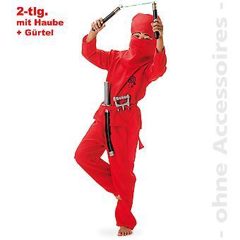 Røde Ninja krigere shadow fighter barn kostume