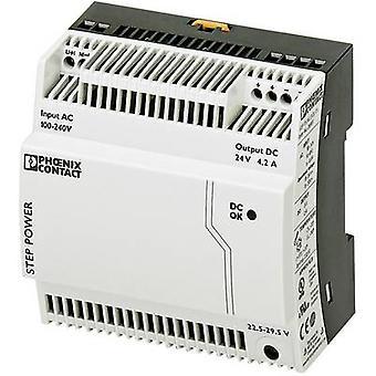 فينيكس الاتصال STEP-PS/1AC/24DC/4.2 السكك الحديدية التي شنت PSU (DIN) 24 V DC 4.4 A 100 W 1 x