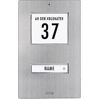 m-e moderne-elektronik KT 1-fx klokke knap baggrundsbelyst, incl. adressefeltet, incl. navneskilt 1 x rustfrit stål 12 V/1 A