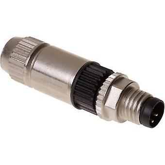 Harting 21 02 151 1405 Sensor/actuator connector M8 Plug, straight No. of pins (RJ): 4 1 pc(s)