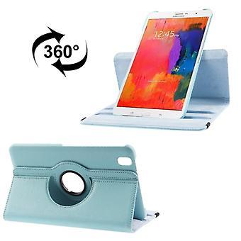 PU cover lade ash (flip Kruis) voor Samsung Galaxy tab Pro 8.4 / T320 licht blauw