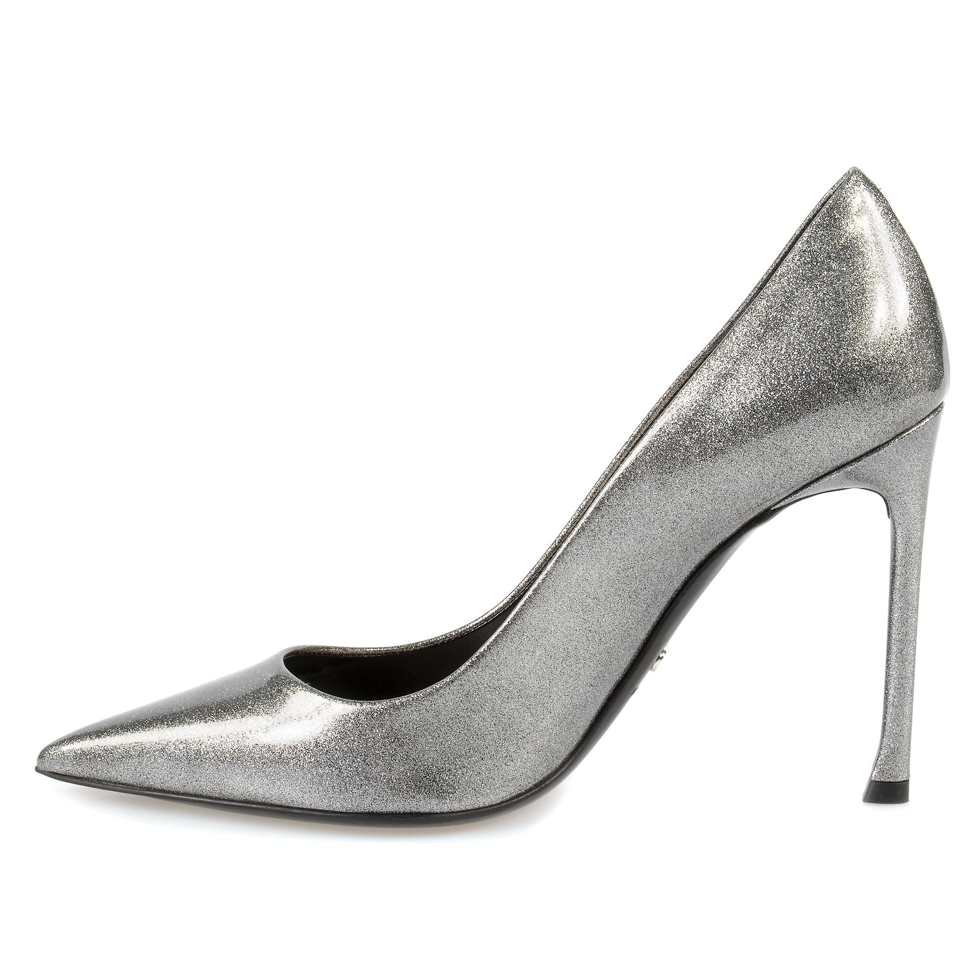 Dior Patent Calfskin Pump | Grey | 10cm