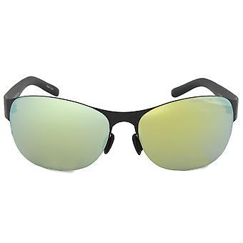 نظارات بورش بتصميم P8581 A بيضاوية | الإطار الأسود | عدسة خضراء