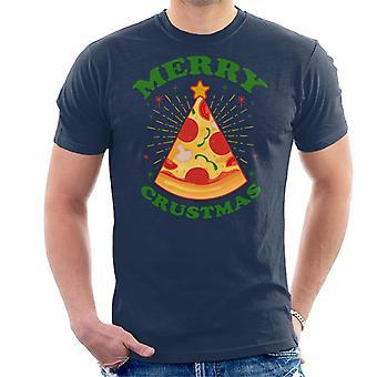 Kerstmis Pizza Merry Crustmas mannen T-Shirt