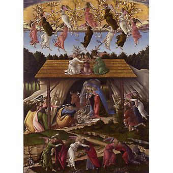 Mystic Nativity, Sandro Botticelli, 60x40cm