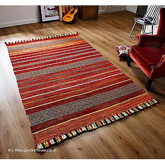 Kelim Stripes Red Rug