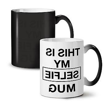 Selfie Social Media NEW Black Colour Changing Tea Coffee Ceramic Mug 11 oz | Wellcoda