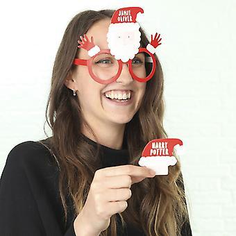 ¿Juego de fiesta de Navidad quién soy yo? Fiesta de Navidad de Santa divertidas gafas trabajo
