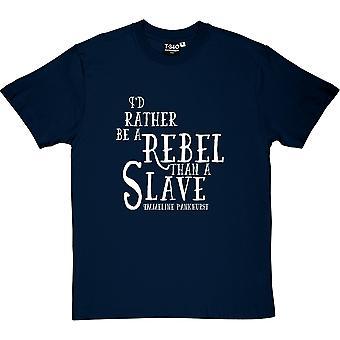 Camiseta Emmeline Pankhurst rebelde citar hombres