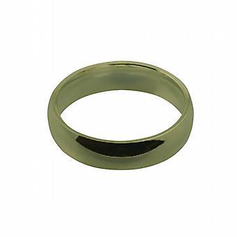 9ct Gold 6mm sima bíróság alakú Karikagyűrű méret Z