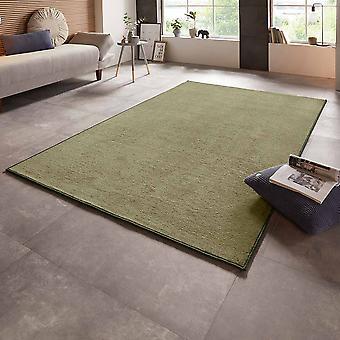 Velour carpet bare uni green monochrome
