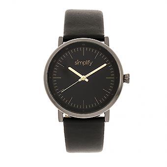Vereenvoudigen van de 6200 Leather-Strap Watch - zwart/brons