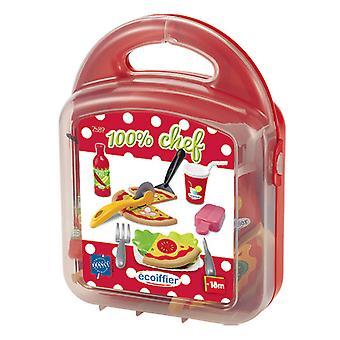 Ecoiffier 100 % Chef Pizza dans valise