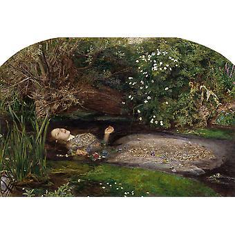 Ophélie, John Everett Millais, 60x40cm