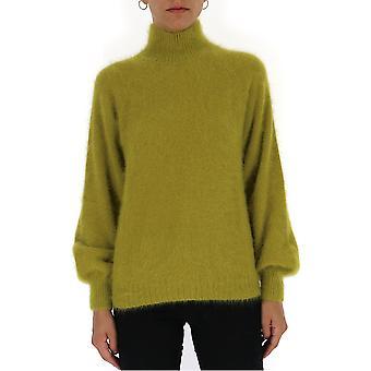 Alberta Ferretti 09055105a0451 Frauen's grüne Wolle Pullover