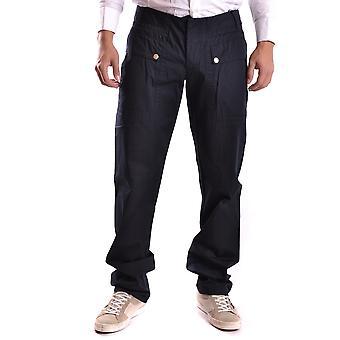 Bikkembergs Ezbc101019 Men's Blue Cotton Pants