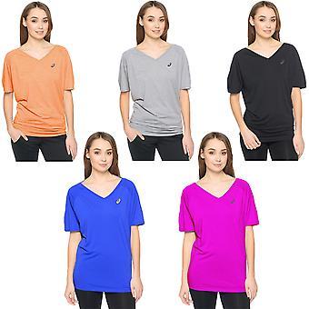 asics Womens Styled Short Sleeve Running Gym Training T Shirt Top - 12 (Medium)