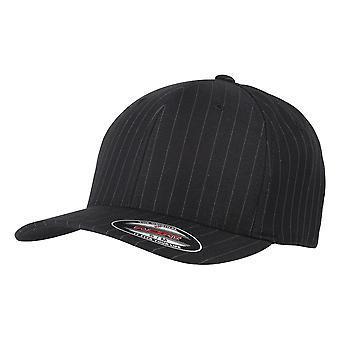 Yupoong Flexfit Unisex Pinstripe Baseball Cap (Pack of 2)
