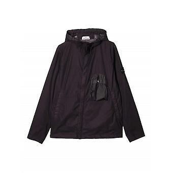 Stone Island Junior Plum Lightweight Hooded Jacket
