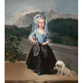 Maria Teresa de Borbon y Vallabriga,Francisco Goya,50x44cm