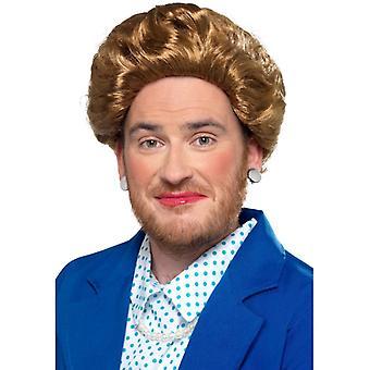Πρεμιέρα υπουργός σιδερένια κυρία περούκα καρναβάλι αξεσουάρ σιδήρου κυρία περούκα περούκα περούκα