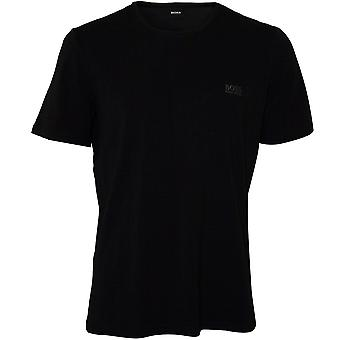 BOSS Crew-Neck Stretch Baumwoll-T-Shirt, Marine