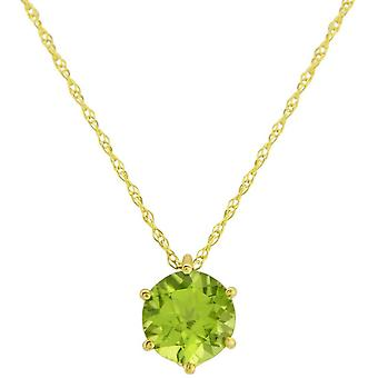 Mark Milton Peridot August Pendant - Green/Yellow Gold