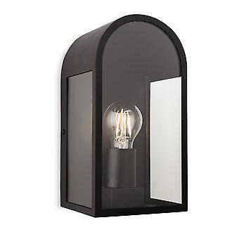 Firstlight - 1 Light Outdoor Wall Light Black IP44 - 7669BK