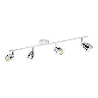 Erstlicht-4 Light Spotlights Bar Bad Ceiling Light White, Chrome IP44-8204WH