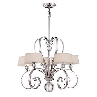 Madison Manor Five Light Chandelier - Elstead Lighting Qz / Madisonm5 IS